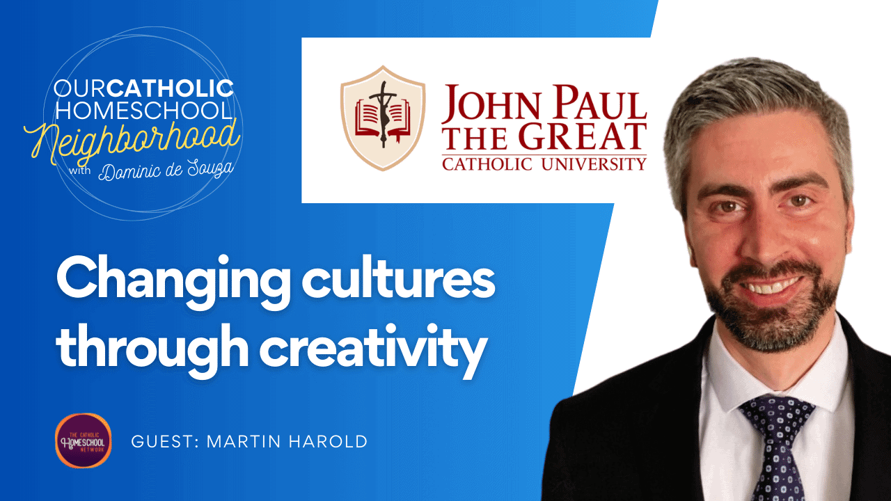 Changing cultures through creativity, with Martin Harold from JPCatholic